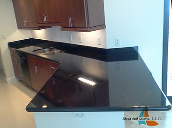 Black granite countertops Highland Beach