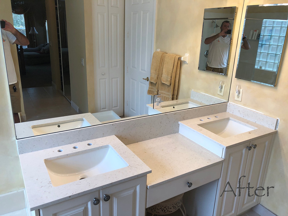 Quartz Countertops Near Me. We install kitchen and vanity tops in Boca Raton FL and near areas Fell free to contact us Stone and Quartz LLC