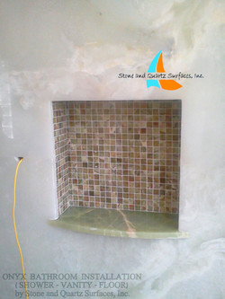 Onyx wall panels installation