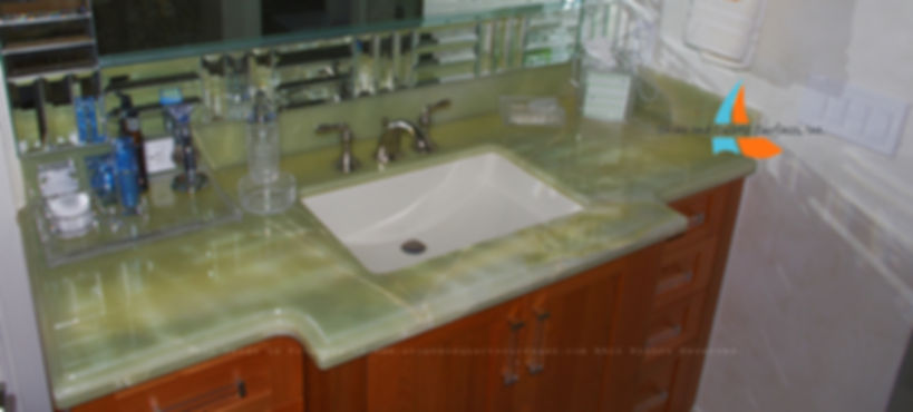 picture of green onyx vanity countertop