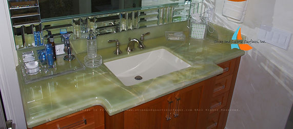 We fabricate onyx countertops Fort Lauderdale, West Palm Beach, Highland Beach, Singer Island, Fl.