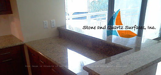 light granite countertops Delray Beach
