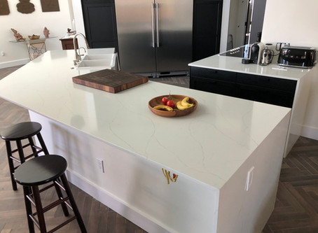How does Lincoln Pompeii Quartz Counters Look like installed?