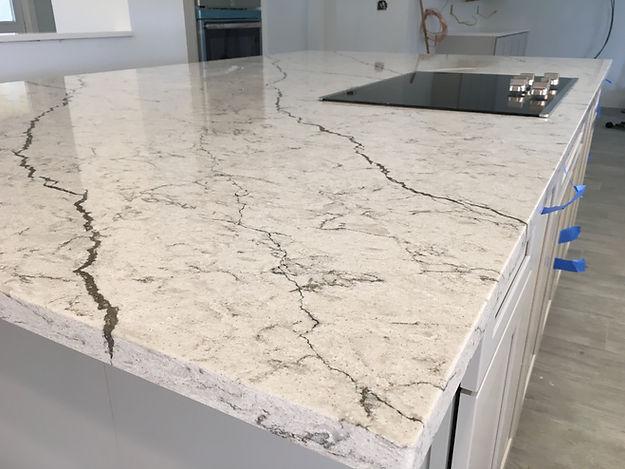 Diamante Pompeii Quartz Countertops | Boca Raton