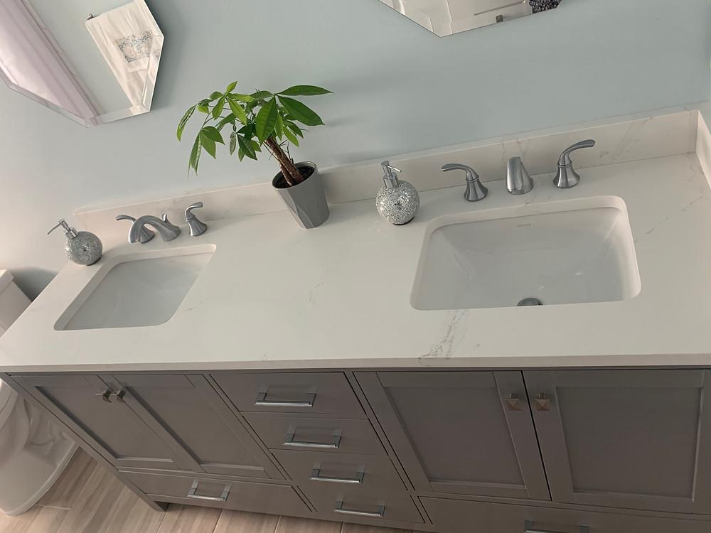 Silestone Calacatta Gold countertops installer in Boca Raton FL contact Stone and Quartz LLC
