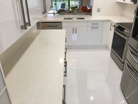 Star White Quartz Countertops Delray Beach FL