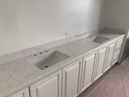 How Cambria Swanbridge countertops looks like installed?