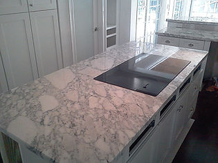 White and Gray Kitchen countertops
