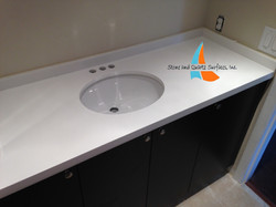 white vanity counter top