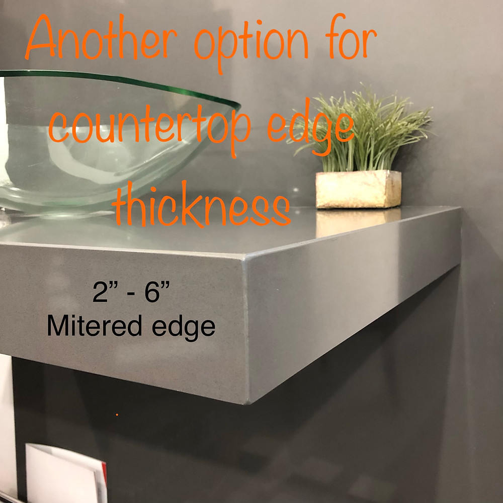 Quartz Countertops Installed Near Me: This picture show another option for countertops edge thickness.