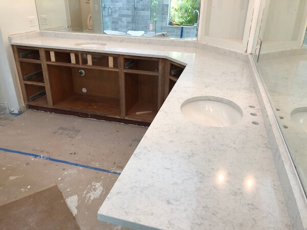 Mara Blanca MSI quartz Vanity Countertops