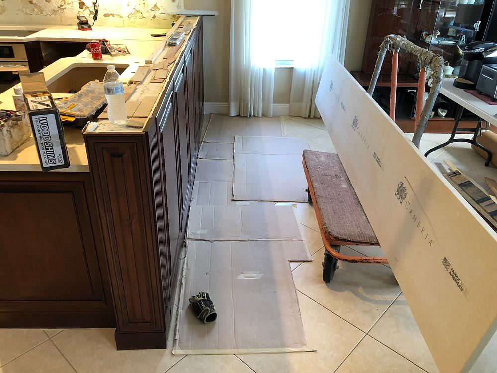 Quartz Countertops installation in Boca Raton FL