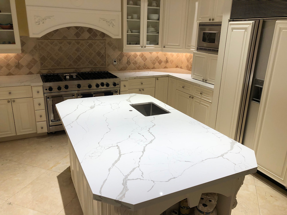 Looking for Calacatta Quartz Laza for your kitchen countertops feel free to contact us! Stone and Quartz LLC Boca Raton FL.
