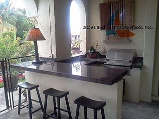 Outdoor kitchen countertops Near Me Boca Raton, Florida.