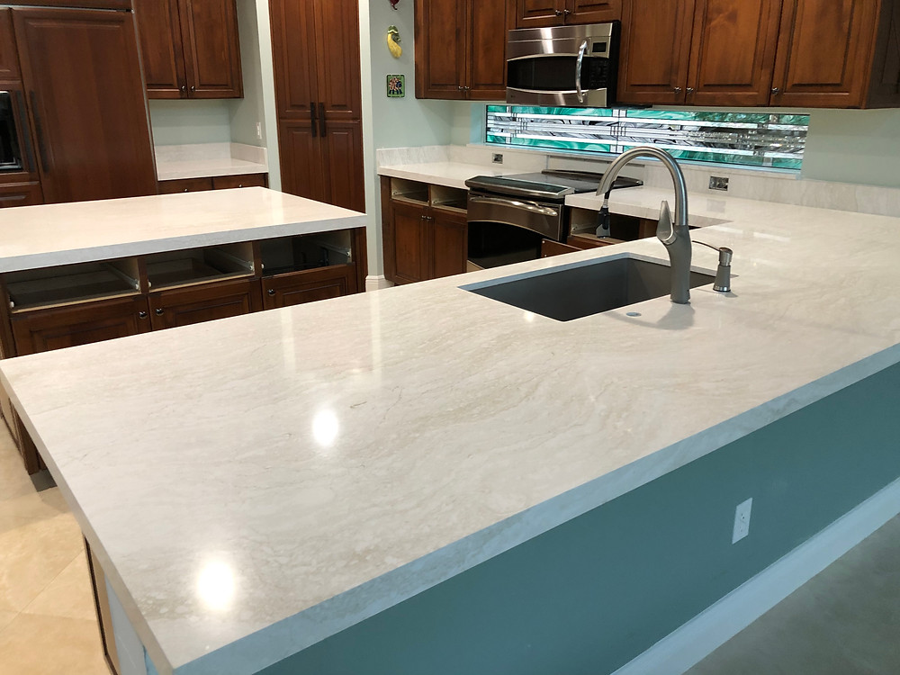 For Cambria Ironsbridge quartz countertops, contact the experts Stone and Quartz LLC Located in Boca Raton FL