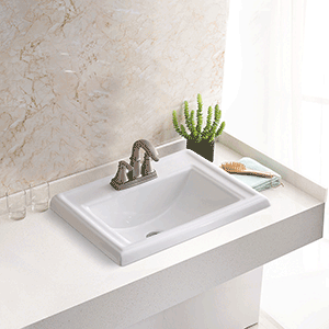 Stone & Quartz LLC | Drop in Dugout Vanity Sink Installed