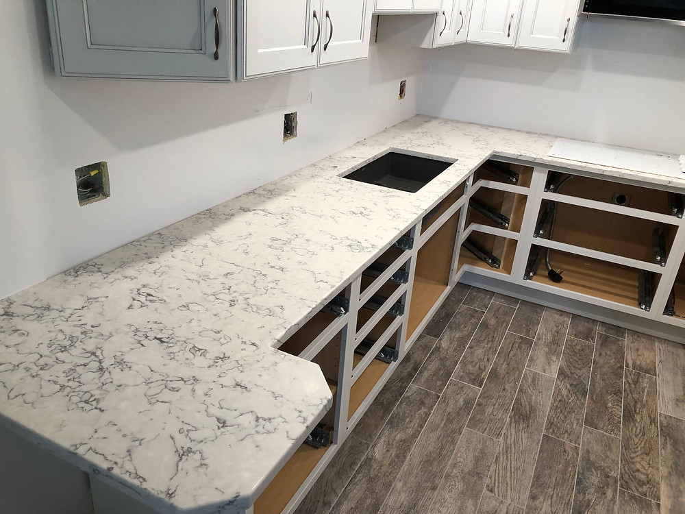 Kitchen Quartz Countertops installed in Boca Raton