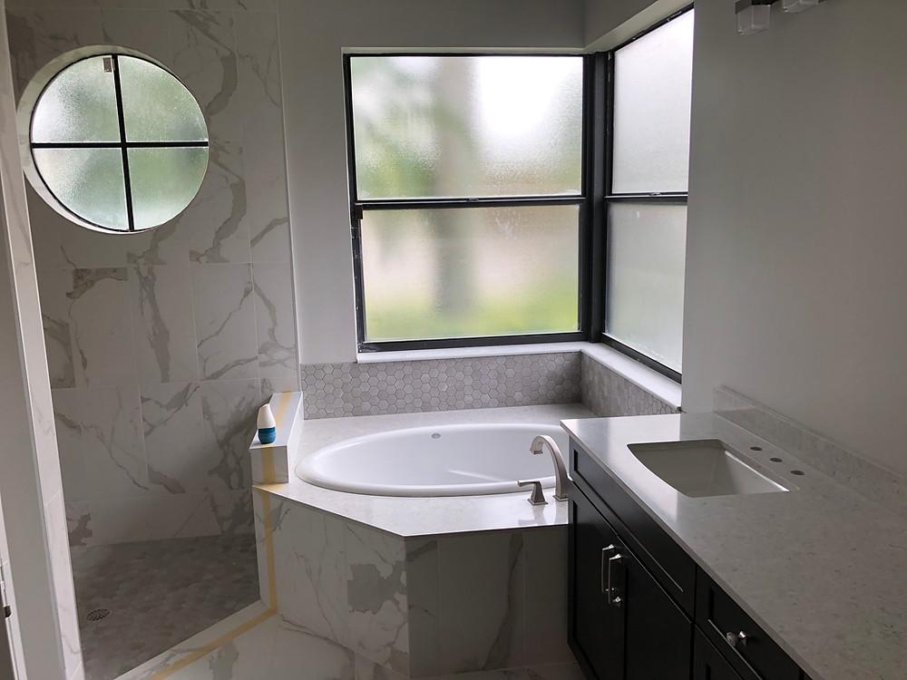 bathroom remodeling, vanity tcounertop installation
