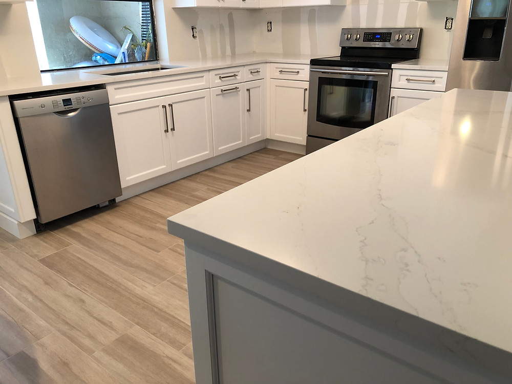 Silestone Calacatta Gold it is a beautiful design that looks like marble. Please feel free to contact Stone and Quartz LLC for your kitchen countertops, Boca Raton FL