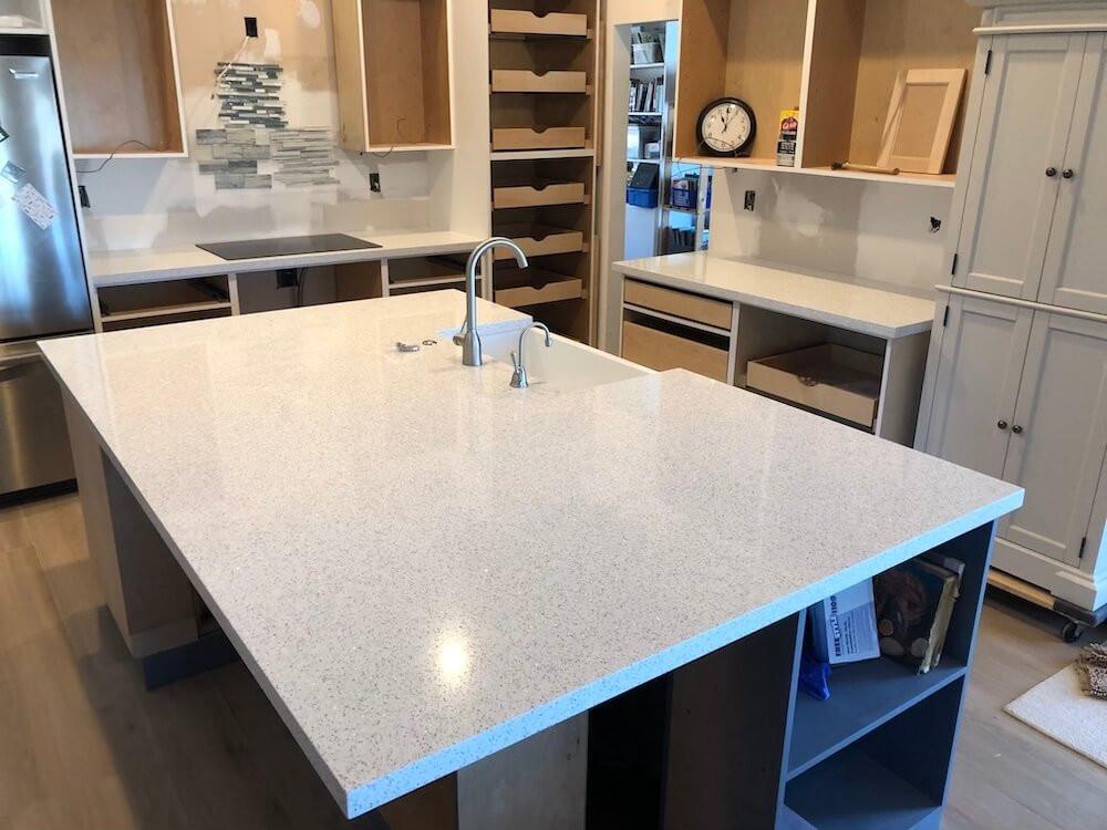 Cambria Whitney Kitchen island Stone and Quartz LLC