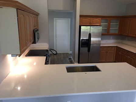 White Quartz Countertops Parkland Florida