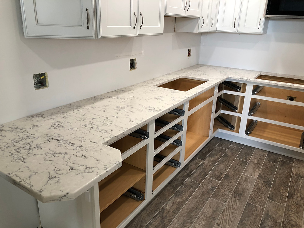 quartz countertops installed in Boca Raton FL 33432
