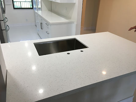 White Quartz Countertops Delray Beach