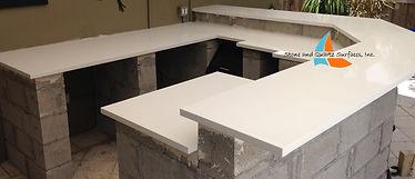 Quartz outdoor kitchen countertops  Boynton Beach, Florida.