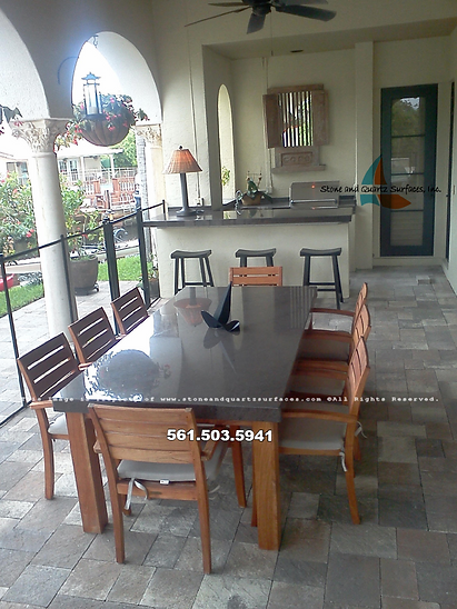 Custom Outdoor Kitchen Countertops Boca Raton, Fl.