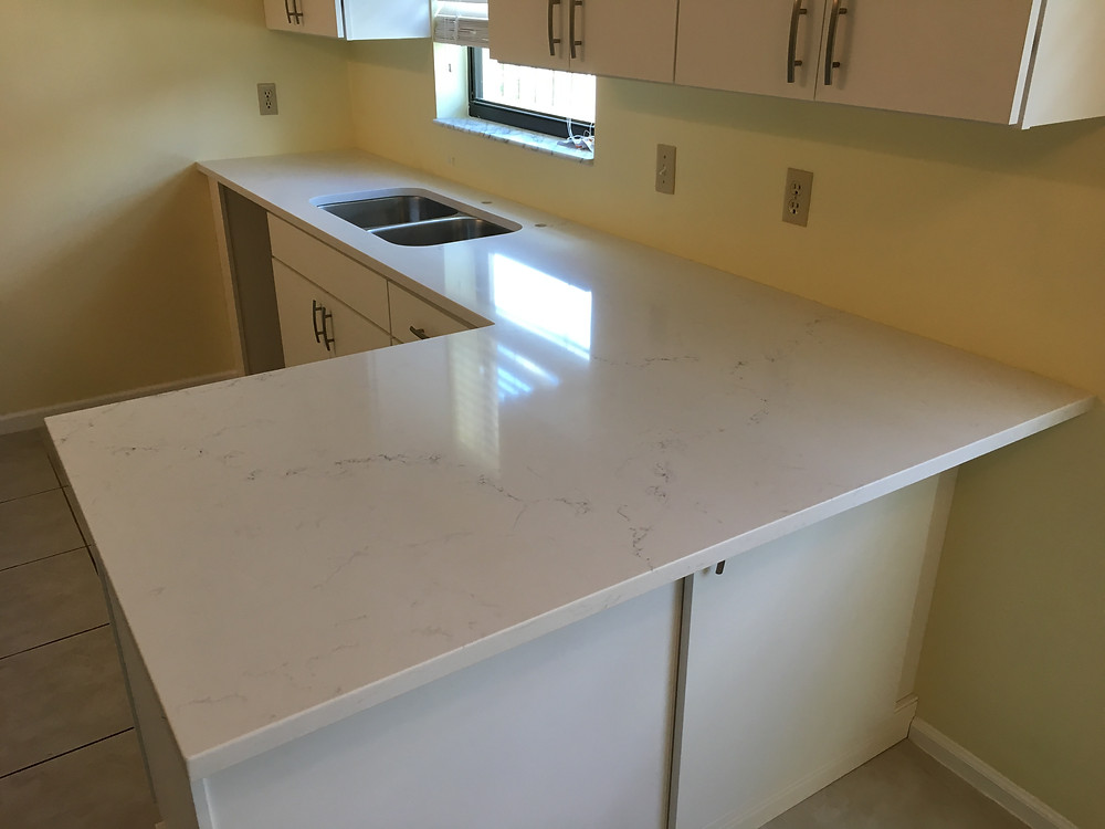 Looking for Pompeii Quartz Countertops installer in Boca Raton FL, Delray Beach, Boynton Beach? Contact us Stone and Quartz LLC your countertops Fabricator & installer locate din Boca Raton FL