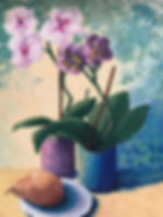 Orchids and a Pear.jpg