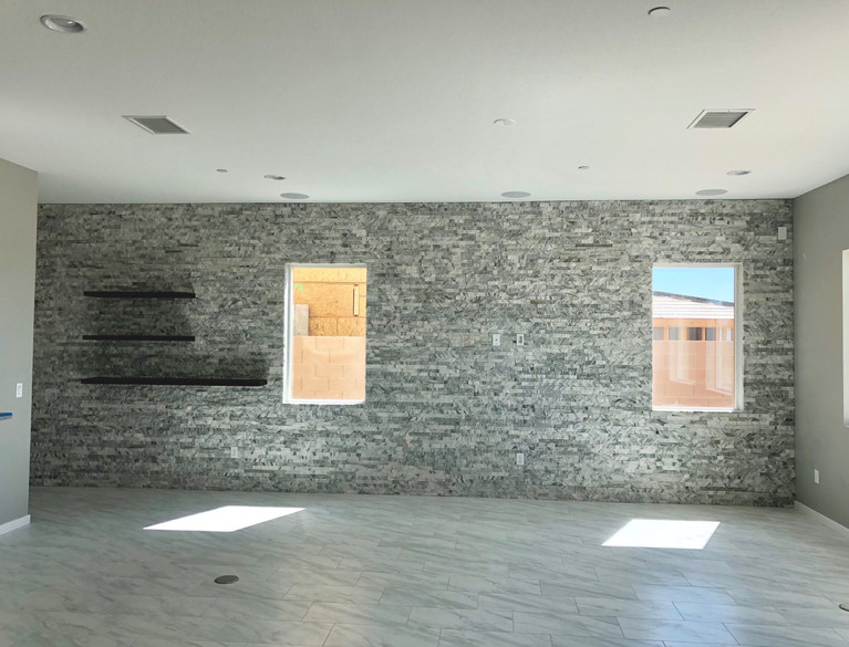 Stacked Stone Veneer Wall