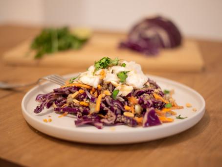 Flaked Cod with Crunchy Thai Salad