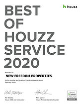 Houzz best of service award