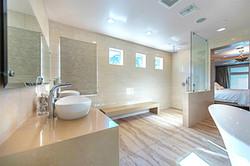 bathroom remodel floating shower bench