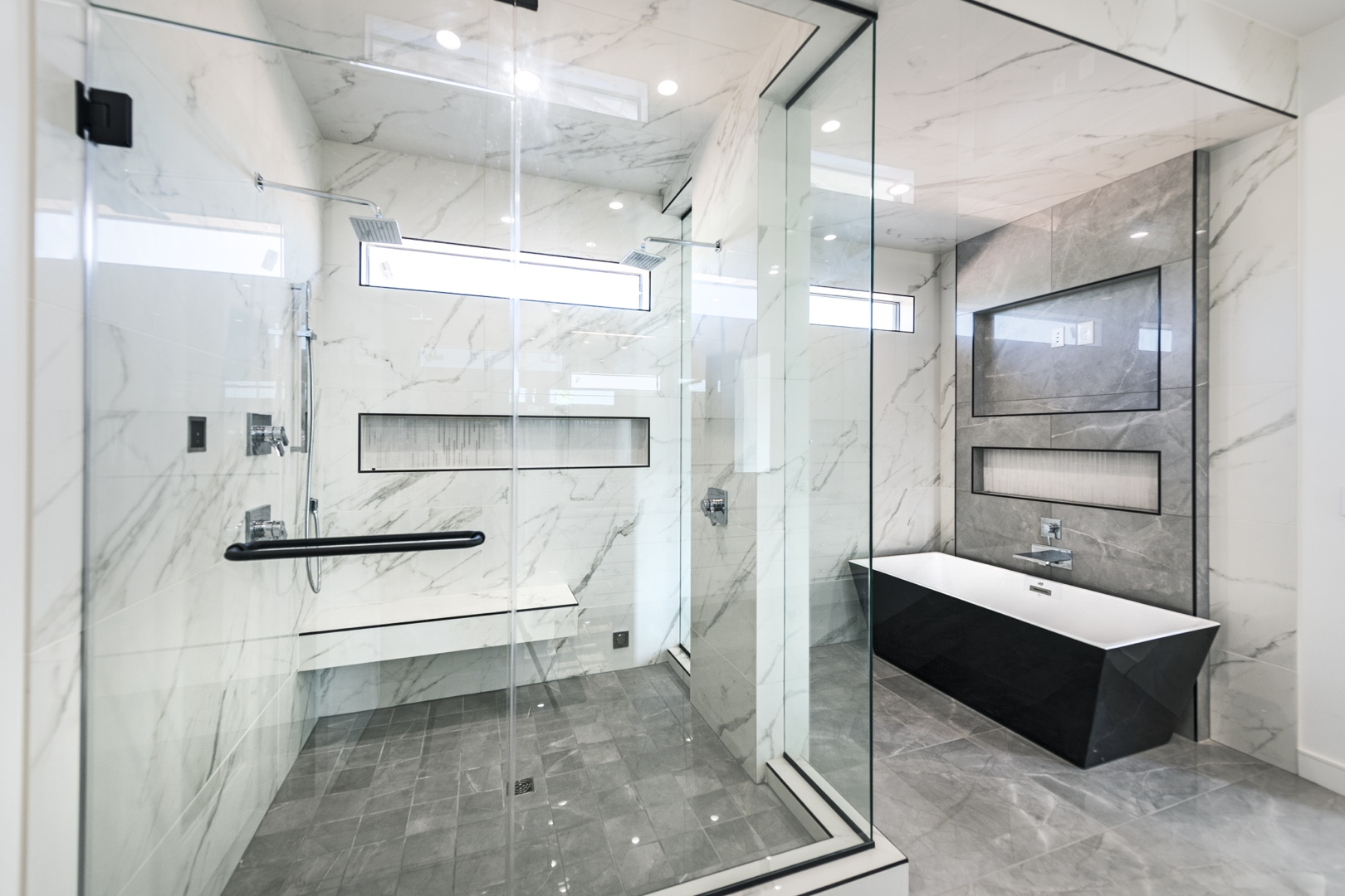 glass shower enclosure