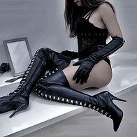 Asian Mistress Caittrin x Lace Corset x Leather Gloves x Thigh High Boots