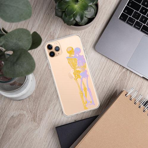 Skeleton Kiss - iPhone Case