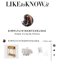 Chelsea Instagram Simply Living by Chels