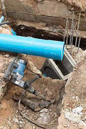 Installation of drainage pipe in Nîmes la cigalle
