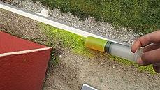 Recherche de fuite par Fluorescéine