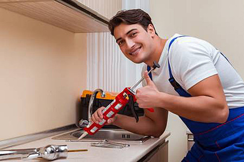 Kitchen installation by a plumber