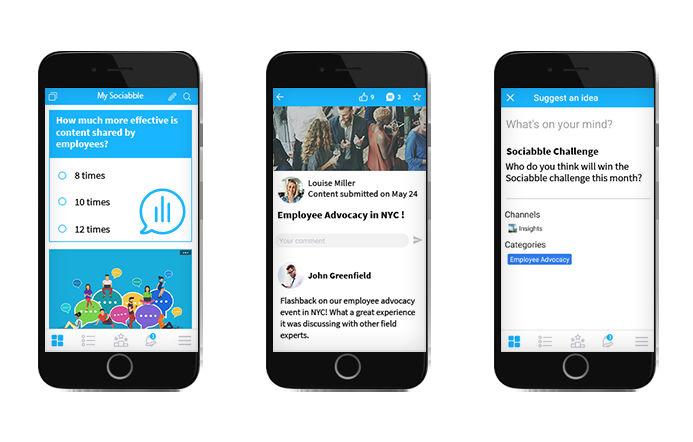 Employee Advocacy Platform mobile