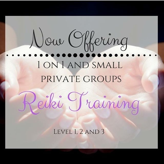 Hello everyone! I would like you all to know that I am now offering ✨🤗Reiki Training!!🤗✨ 1 on 1 an