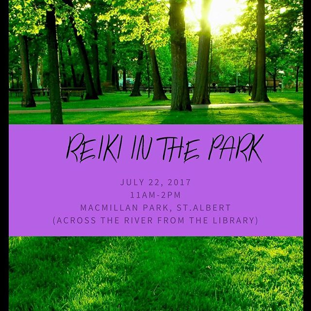 I have an amazing and beautiful ( and FREE) event happening next month! A Reiki experience outside i