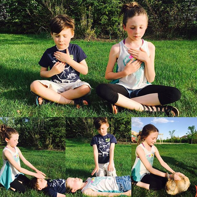 I did a #kidsreiki photo shoot with my kiddos for my upcoming kids Reiki class next month! It was a