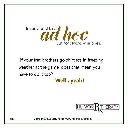 H39 Ad Hoc