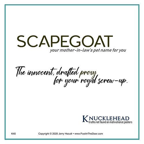 K40 Scapegoat