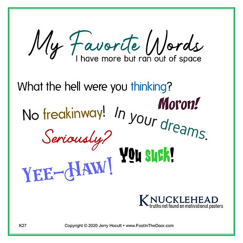 K27 My Favorite Words
