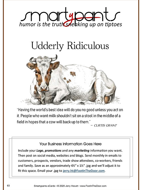 63 Udderly Ridiculous